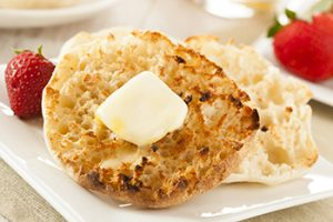 Organic Whole Wheat English Muffins with Butter